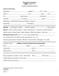 General Surgery Forms